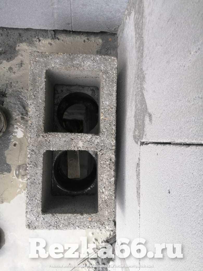 Алмазное сухое сверление бетона